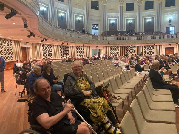 WesleyCare Sinnamon residents on outing to the theatre
