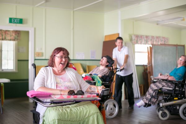 WesleyCare Tewantin residents laughing together