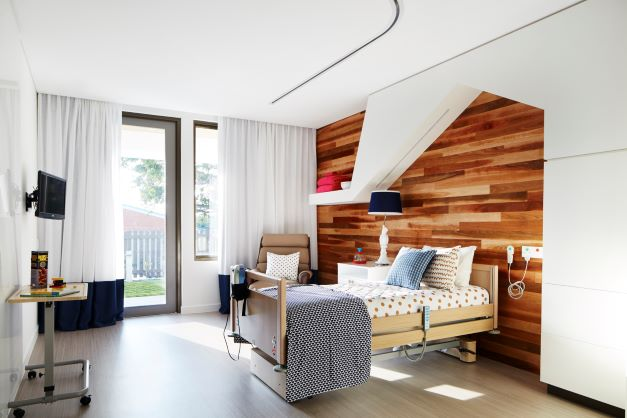 Spacious guest room at Hummingbird House
