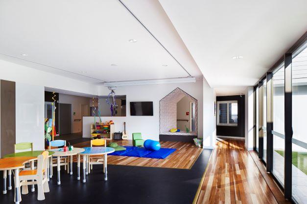 Indoor play area at Hummingbird House