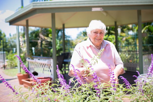 Gardening in our residential aged care communities