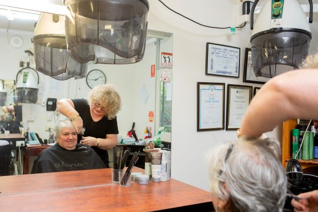 Onsite hairdressing salon in a aged care home