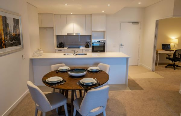 Dining and kitchen at Rosemount