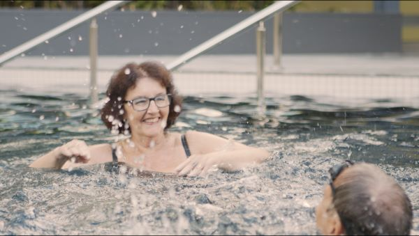 Lady in pool