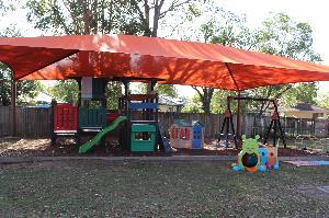Shaded playground